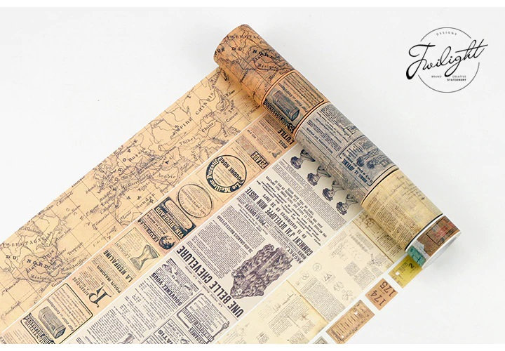 Washi Tape - Vintage Letters, Newspapers, Ads, Script