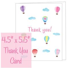Thank You Card - Hot Air Balloons