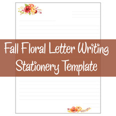 Fall Floral Letter Writing Template