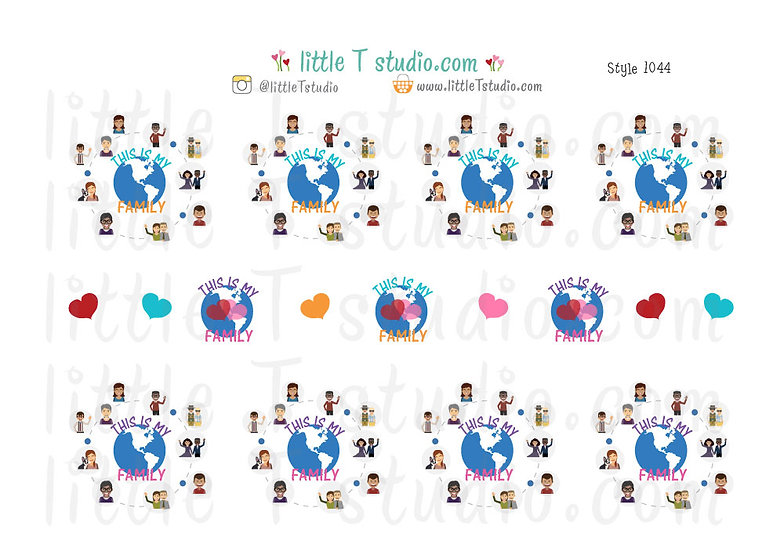 This is My Family Stickers - Style 1044
