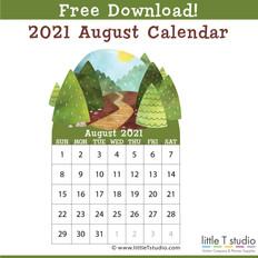 Aug 2021 Mini Calendar
