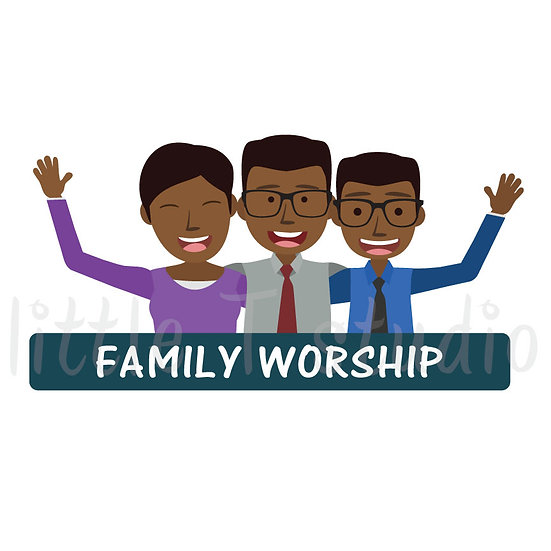 Family Worship Stickers - Style 1057