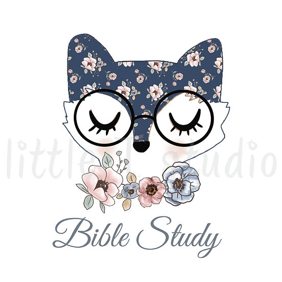 Floral Fox Bible Study Stickers - Style 1091