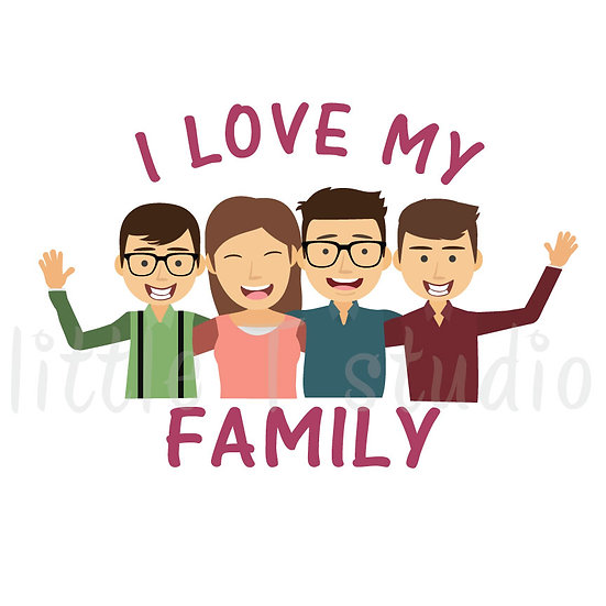 I Love My Family Stickers - Style 1049