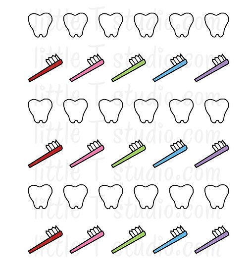 Dental Appointment Reminder Mini Sticker Pack - Style 056M