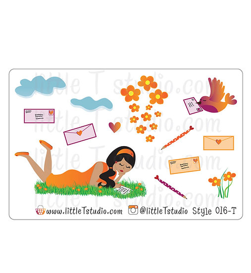 Happy Mail Stickers - Style 016-T