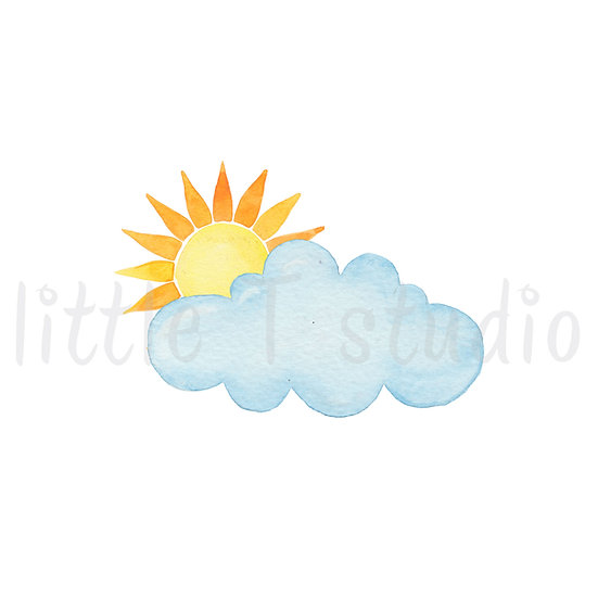 Partly Cloudy Stickers - Style 456M or 472M