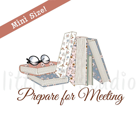 Prepare for Meeting Mini Size Stickers - Style 430M