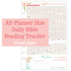 A5 Planner Size Daily Bible Reading Tracker