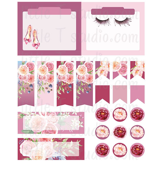 Lovely Paris - Mini Size Vertical Boxes and Tab Stickers - Style 301M