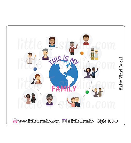 This is My Family - Vinyl Decal Matte Finish - Style 108-D