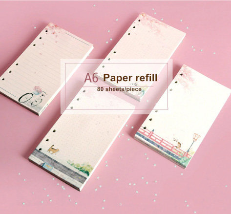 Cherry Blossom Dreamy Cats Personal Planner Full Color Refill Sheets Set