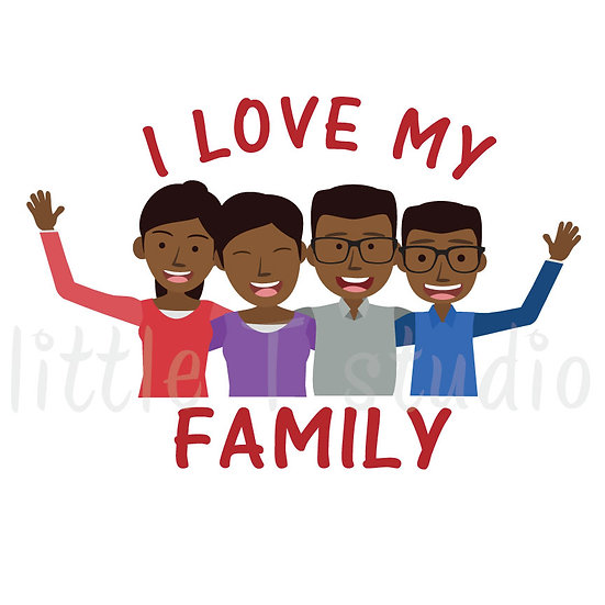 I Love My Family Stickers - Style 1065