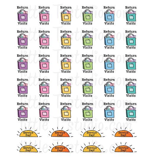 Return Visit Reminder Mini Stickers - Style 093M