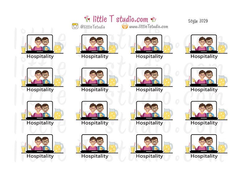 Hospitality Stickers - Style 1029