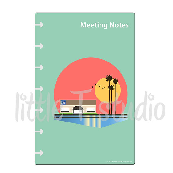 HP Mini Dashboard Print-Ready PDF - Meeting Notes - Personal Use Only
