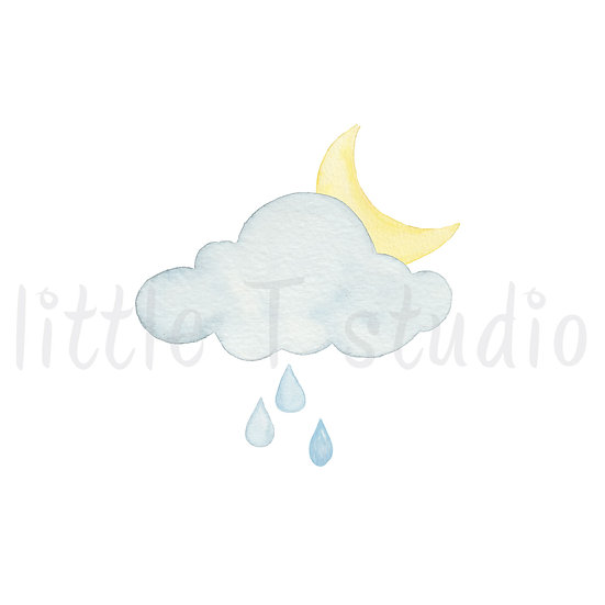 Overnight Rain Showers Stickers - Style 465M or 481M
