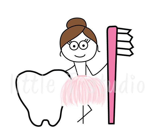 Busy Ballerina - Dentist Appointment Stickers - Style 229