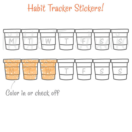 Daily, Weekly Medicine Bottle Tracker Stickers - Daily Pill Tracker - Style 505M
