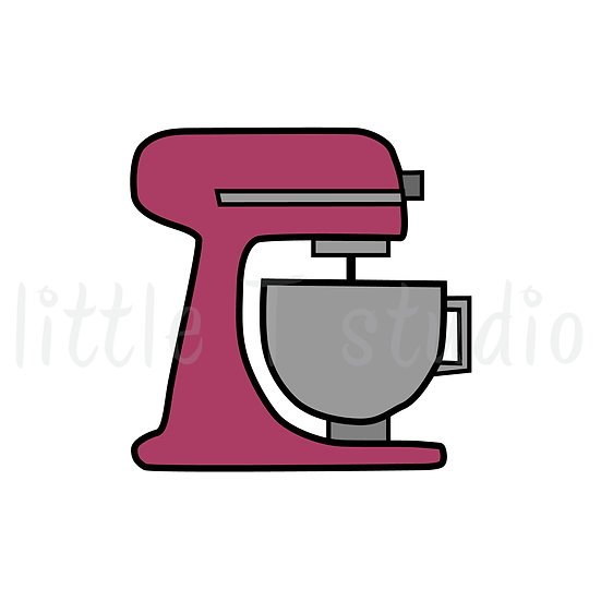 Stand Mixer Baking Mini Size Icon Stickers - Style 145M
