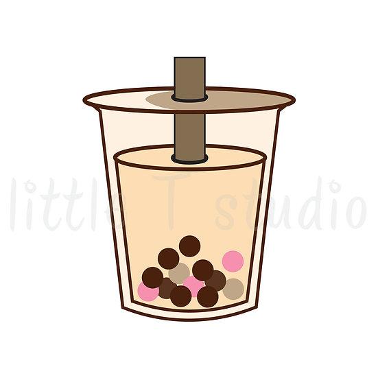 Boba Bubble Tea Drink Stickers - Style 335M