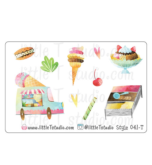Ice Cream Truck Stickers - Style 041-T