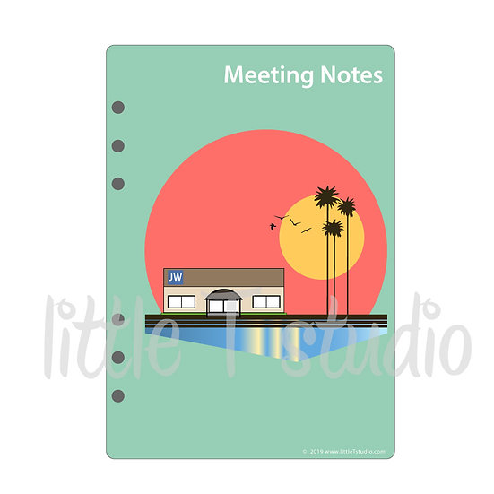 A5 Dashboard Print-Ready PDF - Meeting Notes - Personal Use Only