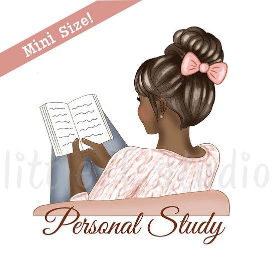 Personal Study Mini Size Stickers - Dark Skin, Dark Hair - Style 429M