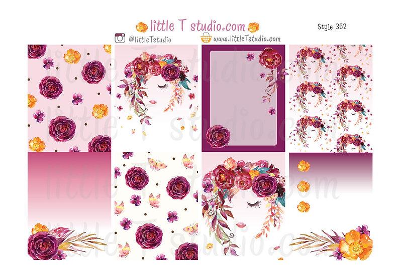 Floral Serenity - Sticker Kit - Styles 362-366