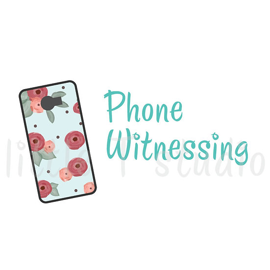 Phone Witnessing Stickers - Style 1027