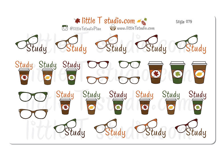 Fall Themed Study Reminder - Style 079