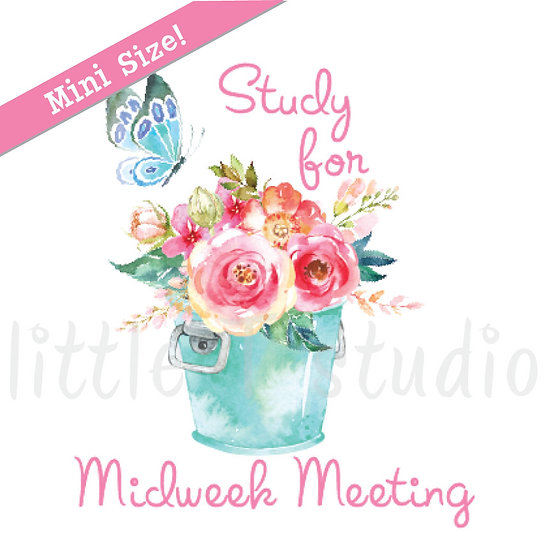 Study for Midweek Meeting Spring Butterfly Mini Size Stickers - Style 164M