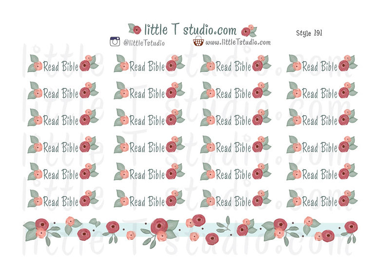 Read Bible Reminder Stickers - Style 191