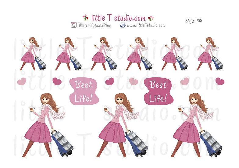 Best Life Cart Girl - Field Service Stickers - Style 155