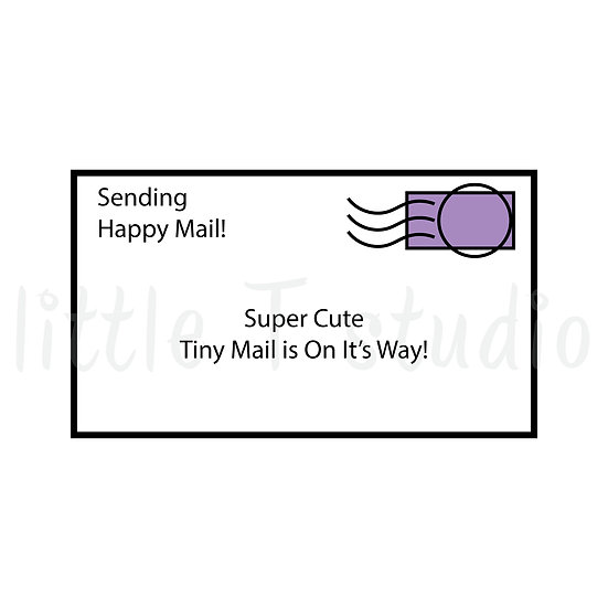 Letter and Envelope Mini Stickers - Style 015M