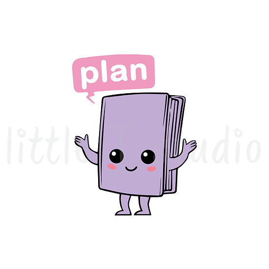 Kawaii Stickers - Planning Time - Style 013-K