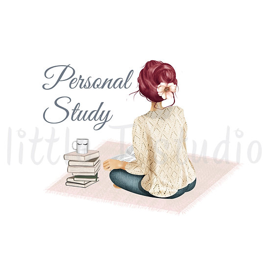 Cozy Home Red Hair Personal Study Stickers - Style 1112 or 304M
