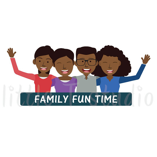 Family Fun Time Stickers - Style 1055
