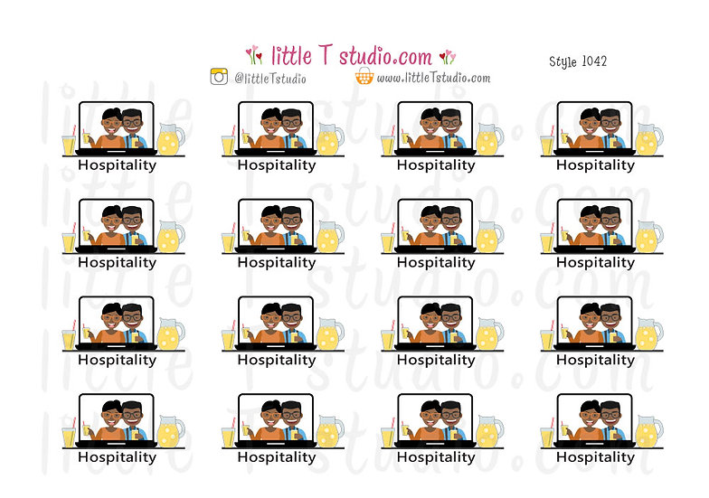 Hospitality Stickers - Style 1042