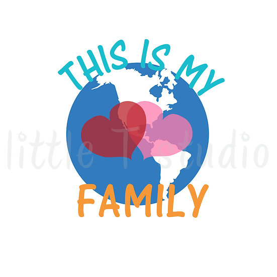 This is My Family Mini Size Stickers - Style 418M