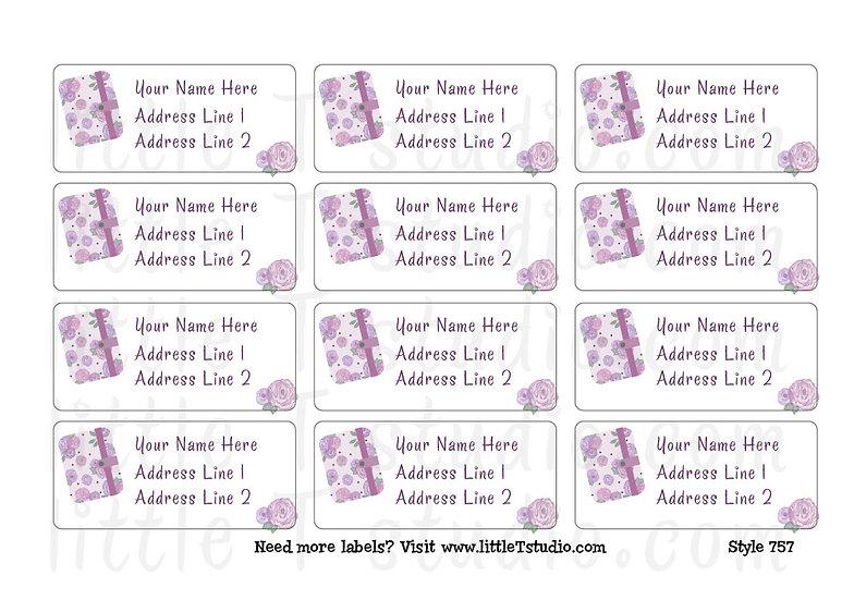 Return Address Labels - Planner Girl - Style 757