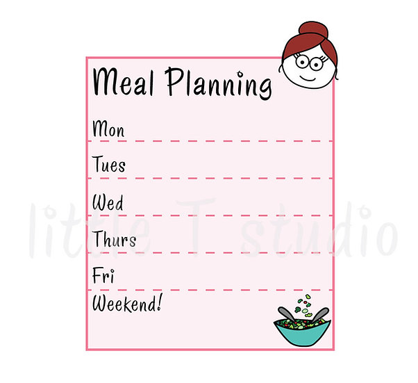 Busy Ballerina - Meal Planning Stickers - Style 231