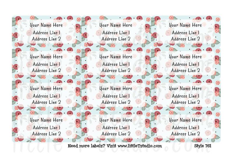 Return Address Labels - Spring Florals - Style 761