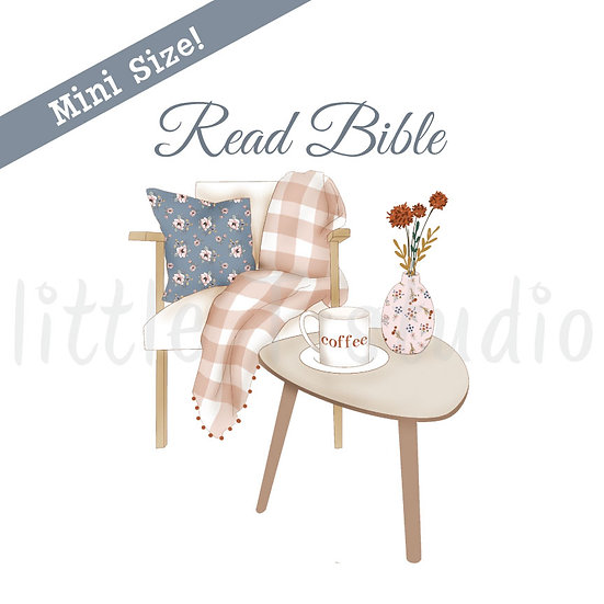 Read Bible Peaceful Reading Spot Mini Size Stickers - Style 449M