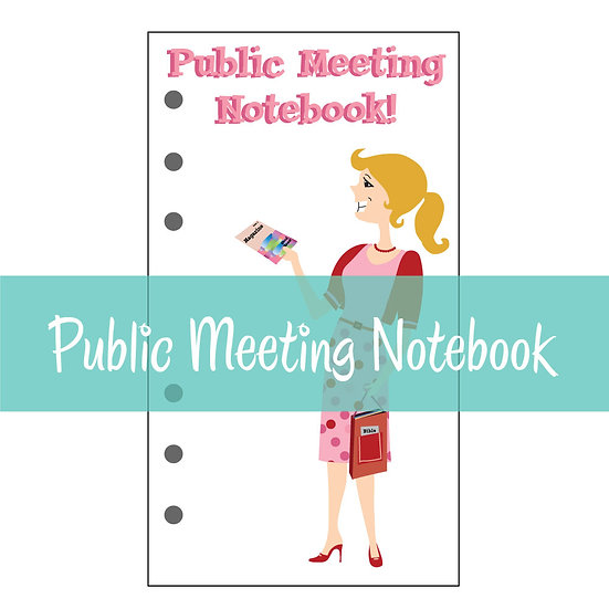 Medium Size Print-Ready Public Meeting Notebook & Watchtower Comments