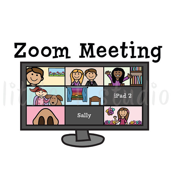 Zoom Meeting Reminder Stickers - Style 1011