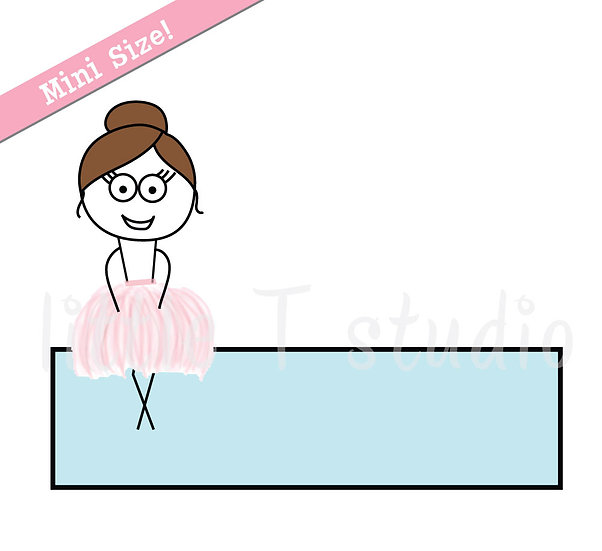 Busy Ballerina Mini Size - Writing Boxes and Note Stickers - Style 232M