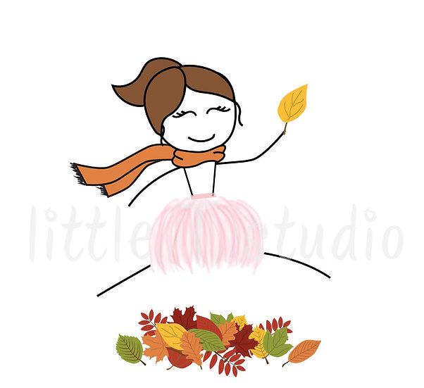 Busy Ballerina - Happy Fall! Sticker Set - Style 214