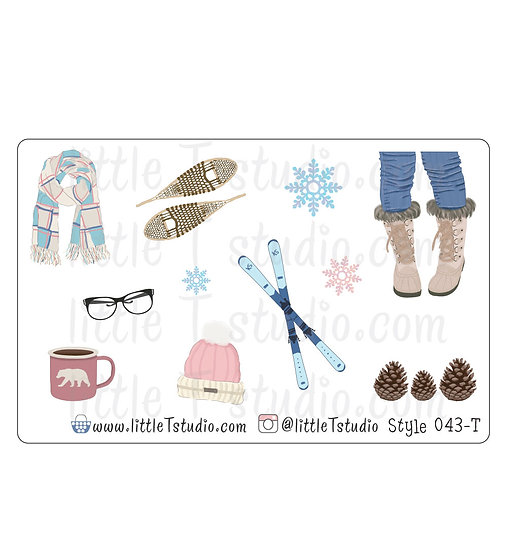 Winter Stickers - Style 043-T