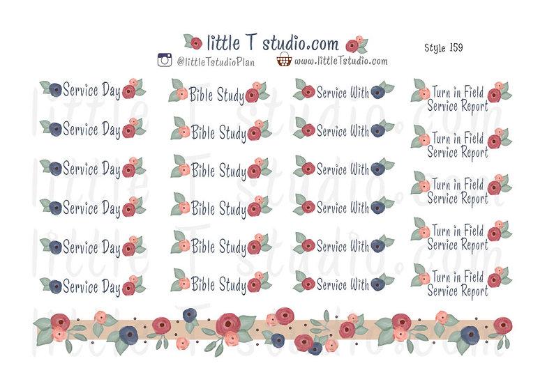 Field Service Activities Reminder Sticker Variety Pack - Style 159